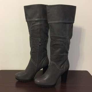全新Centro 深灰色高跟皮靴 (size:39)