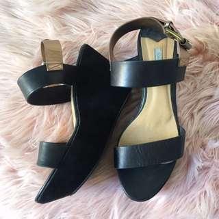 Tony Bianco Black And Bronze Heels