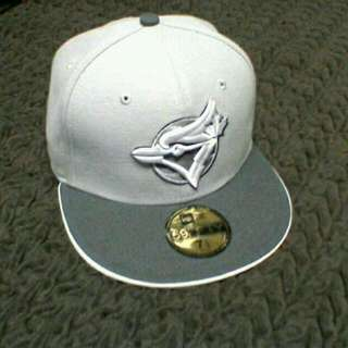 Toronto Blue Jays Grey/White Fitted Hat