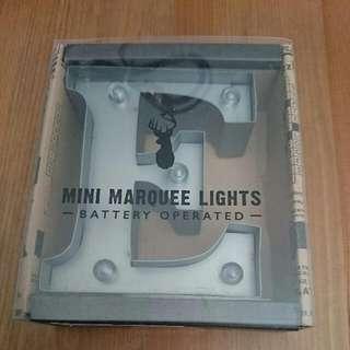 TYPO mini marquee letters E