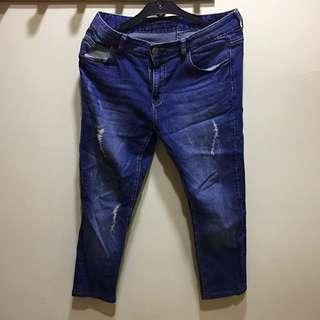 H:connect藍九分牛仔褲