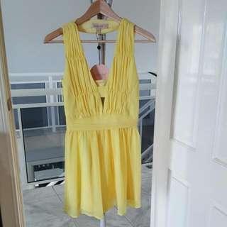 Keepsake The Label Love Struck Mini Dress In Lemon