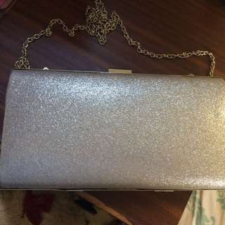 Ruby & kit Silver Clutch