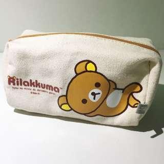 拉拉熊化妝包 鉛筆盒 收納袋