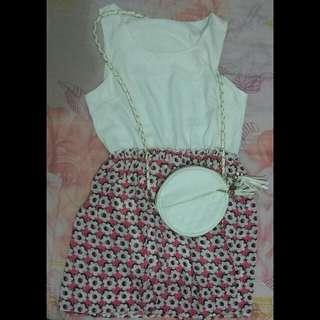 Mini Dress Flower Sleeveless
