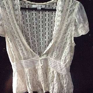 pre loved short sleeves lace cardigan