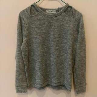 🚚 灰色混織毛衣