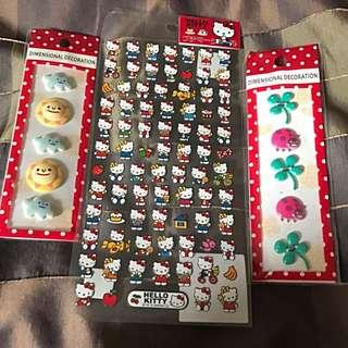 誠品購入Hello Kitty貼紙+立體貼紙