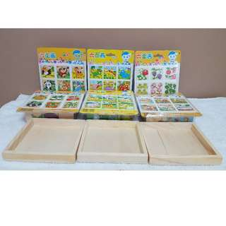 BNIB Wooden Puzzle Block (Full Set of 6 Topics FREE 3 Layout Containers)