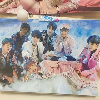 防彈少年團 BTS 相片組 紙相框 Wings 演唱會週邊