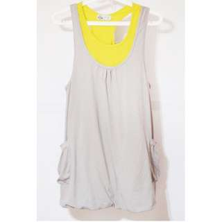 Just G Yellow and Gray Dress
