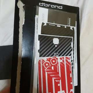 Oneplus 3T Dbrand Carbon Red Black