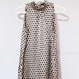 BCBL Brown Patterned Satin Dress