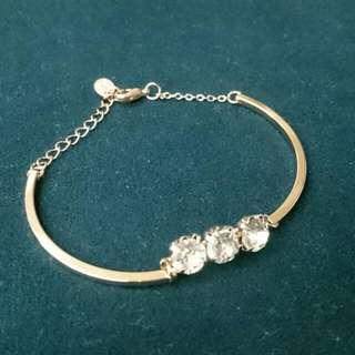 全新 pureshe 鑽 金 金色 手鍊 手環