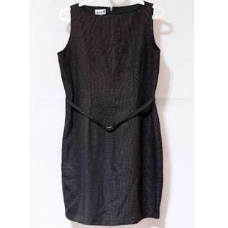 Max Ole Gray Structured Dress