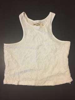 Mooloola white lace crop top