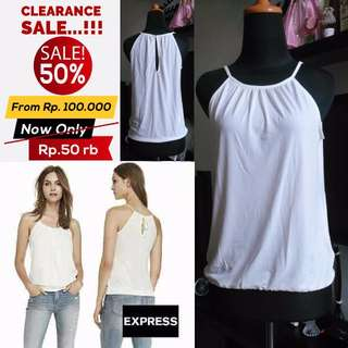 SALE 50% !!! Tangtop Express White