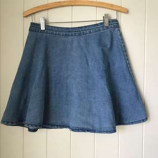 One Way Denim Skirt