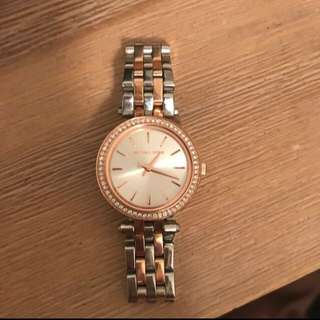 MK Watch Rose gold and Silver