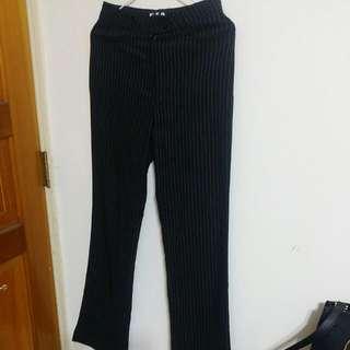 💕黑色直條紋西裝褲