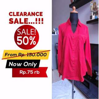 SALE 50% !!! Blouse Character Club Red