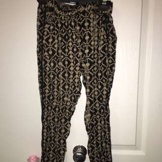 Patterned Casual Pants
