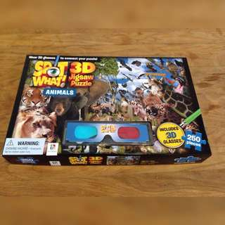 Puzzle With 3D Glasses