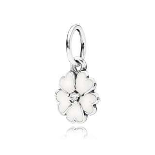 Pandora Charm- White Primrose Pendant