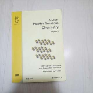 CS Toh A-Level Chemistry Practice Questions