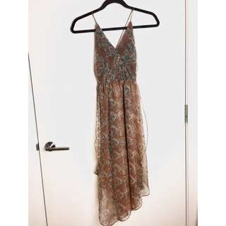 LEOPARD ASYMMETRICAL DRESS