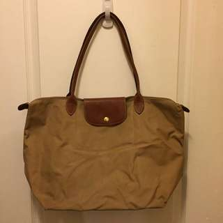 AUTHENTIC Longchamp Le Pliage Tote - Beige