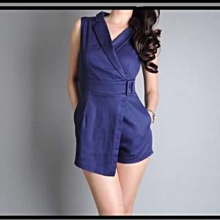 🆕Curves Navy Blue Romper