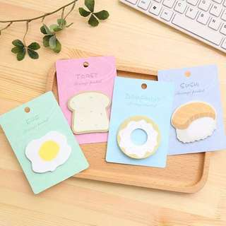 Cute Food Sticky Notes / Post-its