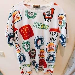 速食餐廳 設計感上衣