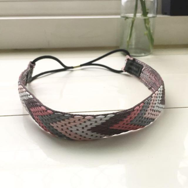 波希米亞風編織髮帶