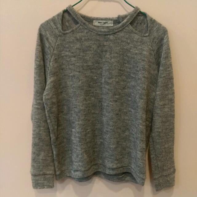 灰色混織毛衣