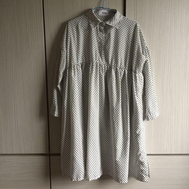 日系點點寬鬆洋裝
