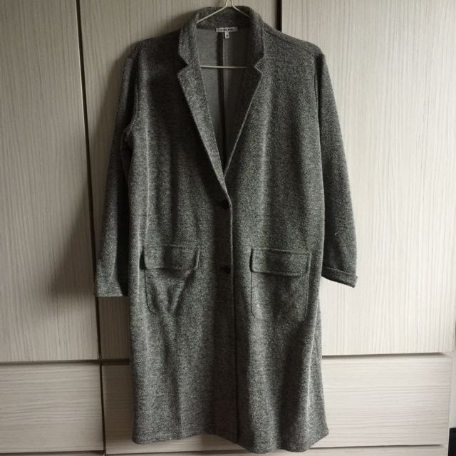 日牌彩點灰棉質西裝外套