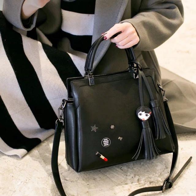 百搭流蘇時尚大容量肩背包/手提包