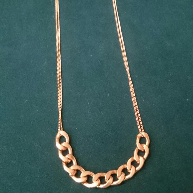 二手 玫瑰金 金 項鍊 頸項鍊