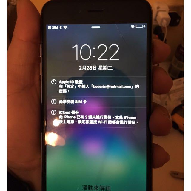 二手 泡過水 功能正常 Iphone6 Plus 16G 黑