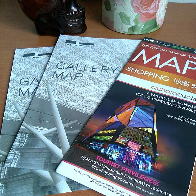 🆕🌸 National Gallery Singapore & Official Map Of Singapore