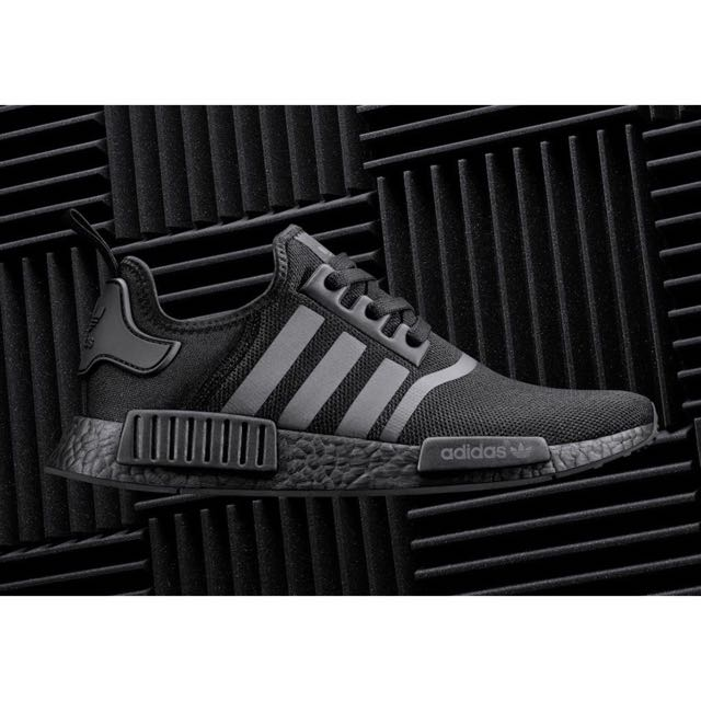 brand new 5bd9a 9e320 Adidas Originals NMD R1 Triple Black, Mens Fashion, Mens Footwear on  Carousell