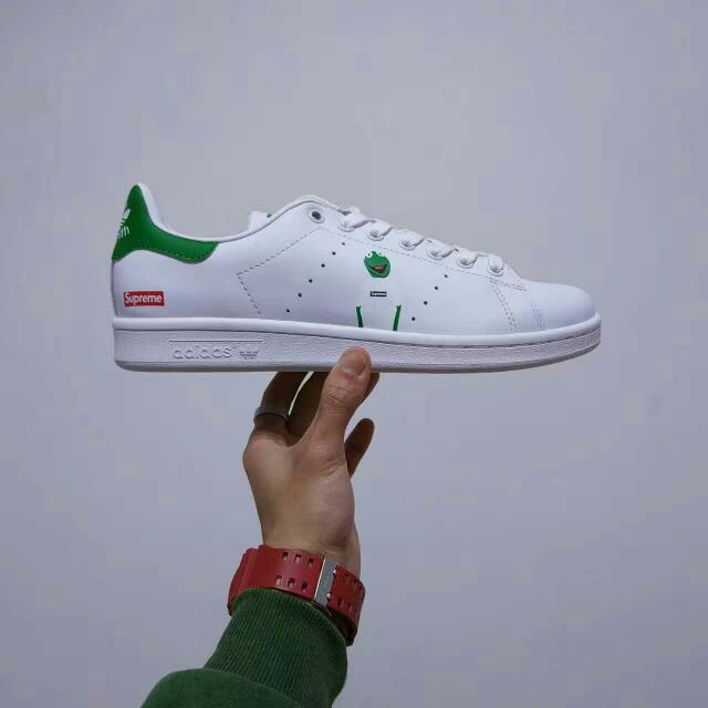 new style d28c3 5d777 Adidas Stan Smith x Supreme Kermit The Frog, Men's Fashion ...