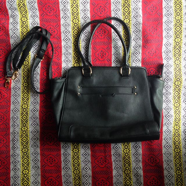 Aldo Leather Bag With Leather Strap