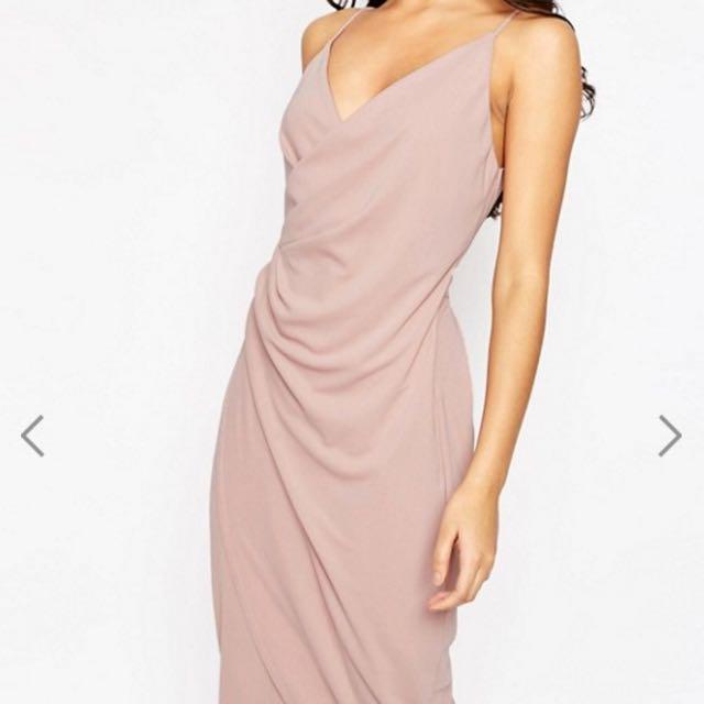 80d864e5adff ASOS Cami Drape Crepe Midi Slip Dress, Women's Fashion, Clothes, Dresses &  Skirts on Carousell