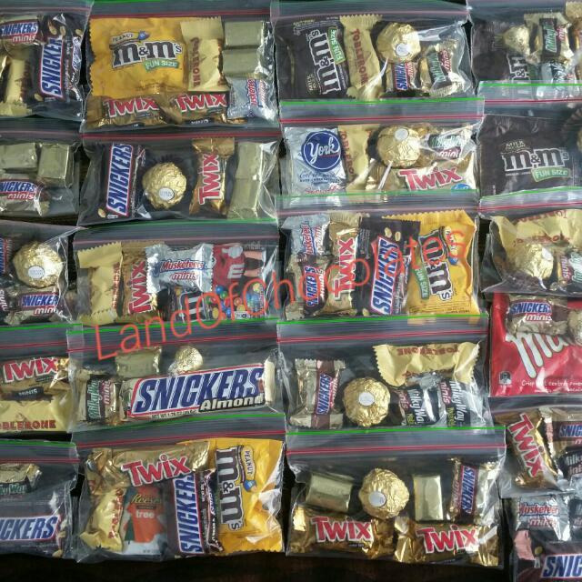 Asstd 70 mini chocolates in a pack