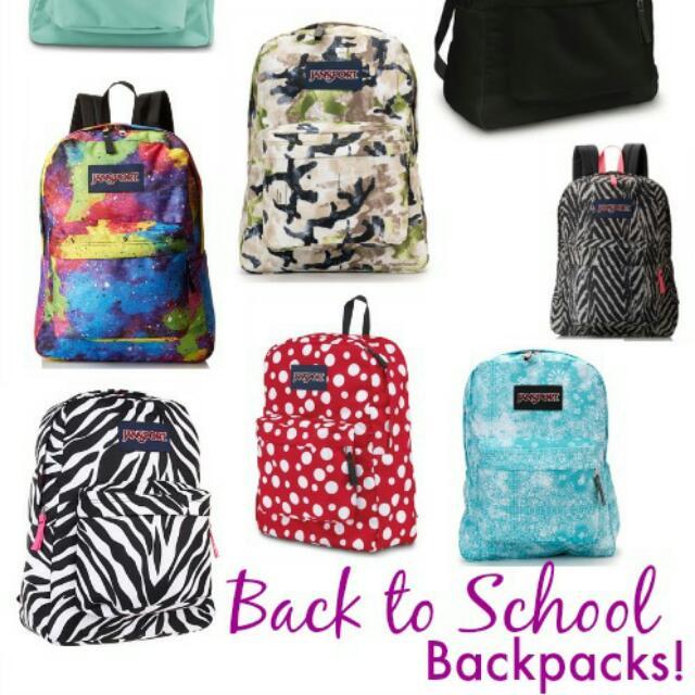 Black Jansport Backpack For Back To School