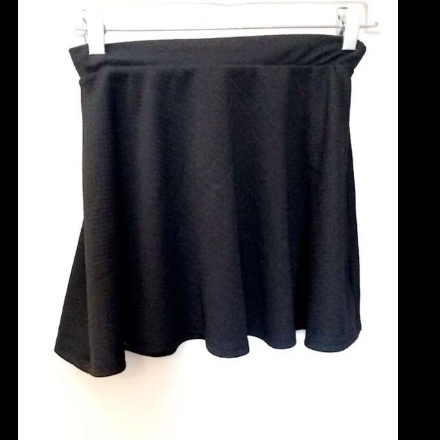 Black High Waited Skirt