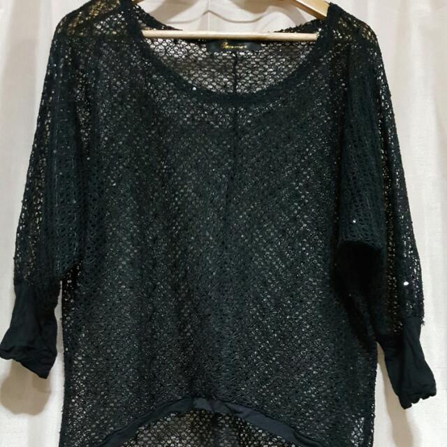 Black Knit Sweater-Like